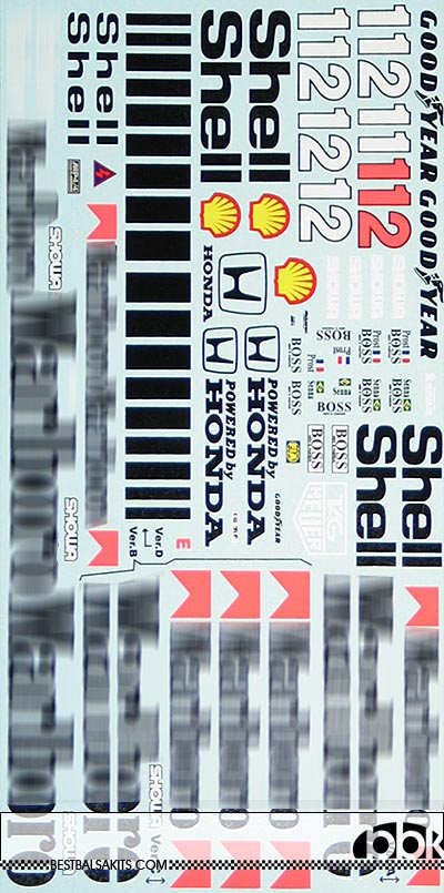 MSM 1/12 FULL SPONSOR DECAL for McLAREN MP4/4 SENNA PROST