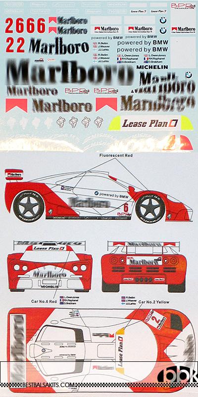 MSM 1/24 McLAREN F1-GTR MARLBOLO BPR GT ZHUHAI #2 #6