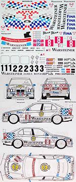 MSM 1/24 BMW 318i E36 STW / MACAU WINKELHOCK DECAL