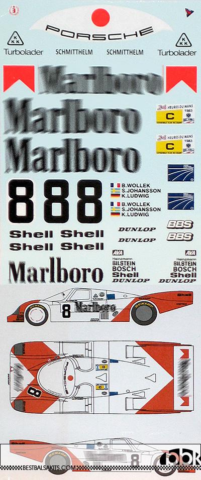 MSM 1/24 MARLBOLO PORSCHE 956 LE MANS 1983 WOLLEK JOHANSSON