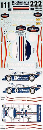 MSM 1/24 PORSCHE 962 ROTHMANS LE MANS 1986