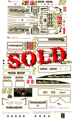 MTR SPEED / ACE 1/20 Lotus MKIII 77 & 78 conversion decal sheet