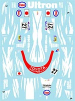 MUSEUM COLLECTION 1/24 TOYOTA TS020 LE MANS 98 DECALS for TAMIYA