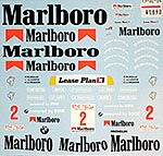 MUSEUM COLLECTION 1/18 CIGARETTE DECAL for McLAREN F1-GTR 1000km SUZUKA