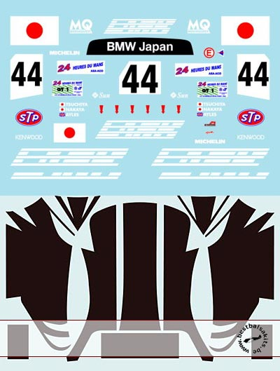 MUSEUM COLLECTION 1/18 1/18 FULL DECAL for McLAREN F1-GTR 24Hr LE MANS