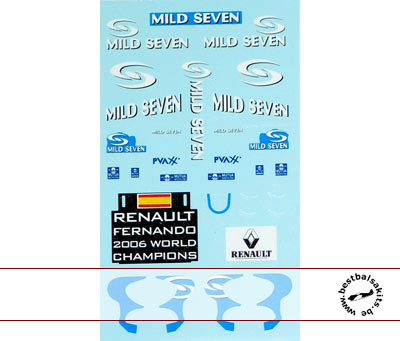 MUSEUM COLLECTION 1/43 FILL IN DECAL for MINICHAMPS RENAULT R26 06 ALONSO