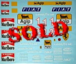 MUSEUM COLLECTION 1/12 FULL SPONSOR DECALS TAMIYA FERRARI 641/2 F190