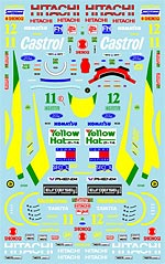 MUSEUM COLLECTION 1/20 1/20 LOTUS 107 HERBERT HAKKINEN DECALS for TAMIYA