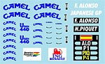 MUSEUM COLLECTION 1/43 FILL IN DECALS PMA MINICHAMPS B191B & R28