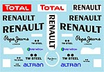 MUSEUM COLLECTION 1/18 FILL IN DECAL MINICHAMPS RENAULT R29 ABU DHABI