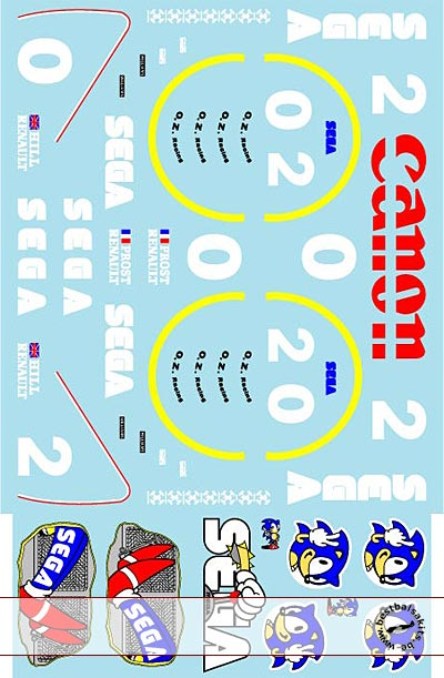 MUSEUM COLLECTION 1/12 FW14B -> FW15C TRANS DECALS for TAMIYA WILLIAMS
