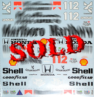 MUSEUM COLLECTION 1/12 FULL SPONSOR DECALS MP4/4 MP4/6 SENNA