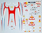 MUSEUM COLLECTION 1/12 VETTEL FIGURE SUIT & HELMET DECAL RB JAPAN 2011