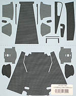 MUSEUM COLLECTION 1/8 McLAREN MP4/4 DUCT CARBON DECALS