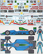 MUSEUM COLLECTION 1/20 LEYTON HOUSE CG901 FULL SPONSOR & DRIVER DECAL