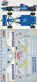 MUSEUM COLLECTION 1/20 LIGIER JS43 PANIS FULL SPONSOR TRANS DECAL
