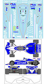 MUSEUM COLLECTION 1/20 BRABHAM BT52B TRANS DECAL for AOSHIMA