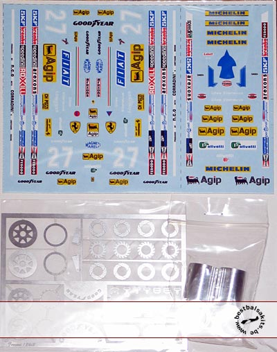 MUSEUM COLLECTION 1/24 FERRARI 126C2 & CK DECAL, PE, ALU RIM for PROTAR