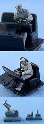 NORTHSTAR 1/43 FIGURINI TRUCK DRIVER SEATED BEHIND STEERING WHEEL
