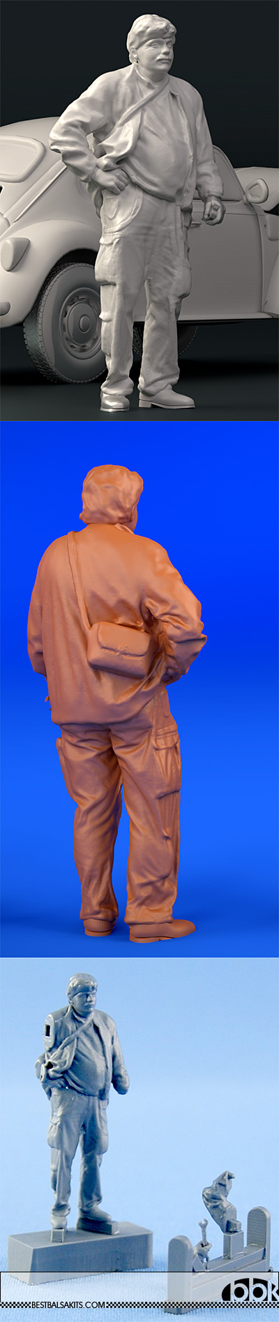 NORTHSTAR 1/43 MECHANIC FIGURINI STANDING AT EASE