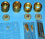 PERFECT PARTS 1/20 BBS GOLD RIMS SET TURNED METAL PHOTO ETCH