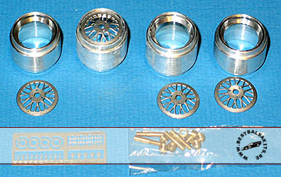 PERFECT PARTS 1/20 BBS ALU RIMS SET TURNED METAL PHOTO ETCH