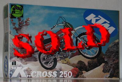 PROTAR 1/9 KTM CROSS 250 CC motocrosser