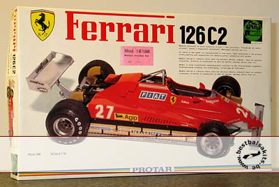 PROTAR 1/12 PROTAR FERRARI 126C2 METAL VERSION VILLENEUVE
