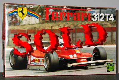 PROTAR 1/12 FERRARI 312T4 SOUTH-AFRICA GP VILLENEUVE