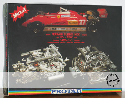 PROTAR 1/12 FERRARI 126 C2 ENGINE TURBO KKK V6