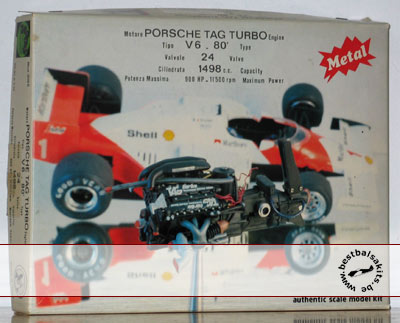 PROTAR 1/12 McLAREN MP4/2C ENGINE PORSCHE TAG TURBO