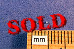 RBM  20 PCs ALU SIMULATED HEX NUTS 0.63mm (.025