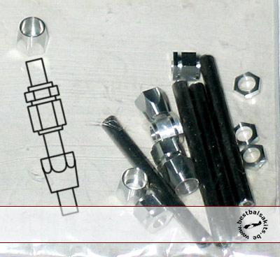 RBM 1/8-1/12 A/N BRAIDED LINE FITTINGS 4pc .158 (4mm)
