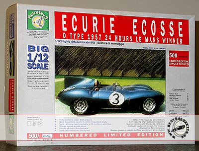 RETRO TOYS 1/12 JAGUAR D TYPE 1957 LM WINNER ECURIE ECOSSE