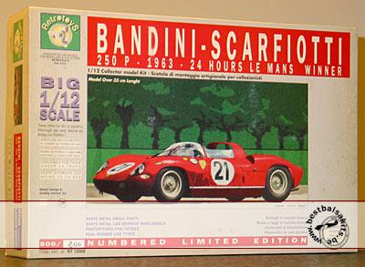 RETRO TOYS 1/12 FERRARI 250P LE MANS '63 WINNER BANDINI SCARFIOTTI