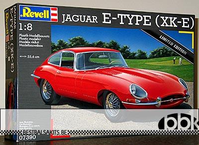 REVELL 1/8 JAGUAR E-TYPE XK-E XKE