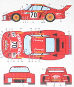SPEED LINE 1/12 PORSCHE 935 HAWAIIAN TROPIC DECAL