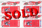 SPEED LINE 1/24 PORSCHE 962 COKE DECAL SET