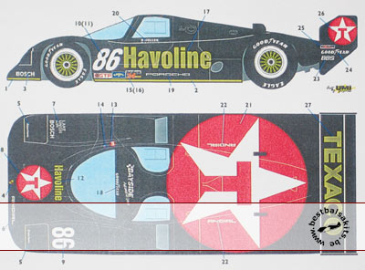 SPEED LINE 1/24 TEXACO PORSCHE 962 DAYTONA 1990