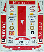 SPEED LINE 1/24 FORTUNA LE MANS 1986 DECAL for TAMIYA 1/24 PORSCHE