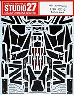 STUDIO 27 1/20 CARBON DECAL 1/20 FERRARI F2012 for FUJIMI ALONSO