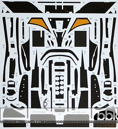 STUDIO 27 1/20 LOTUS 102D FULL CARBON DECAL