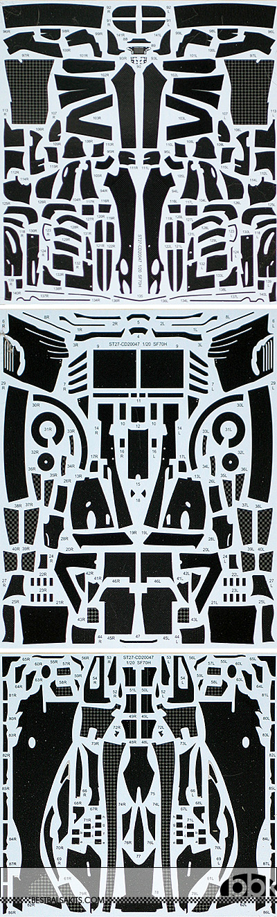 STUDIO 27 1/20 FERRARI SF70H FULL CARBON DECAL