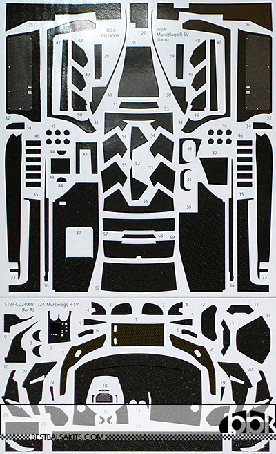 STUDIO 27 1/24 LAMBORGHINI MURCIELAGO FULL CARBON DECAL AOSHIMA