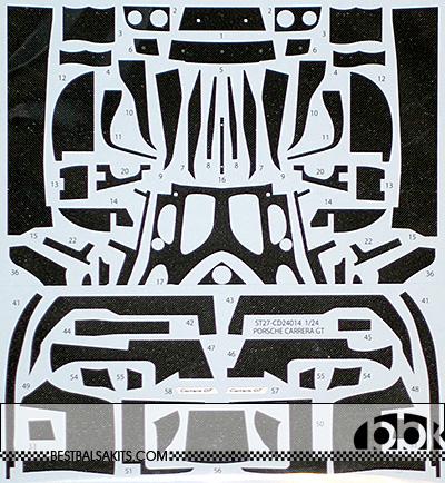STUDIO 27 1/24 PORSCHE CARRERA GT FULL CARBON DECAL TAMIYA 24275