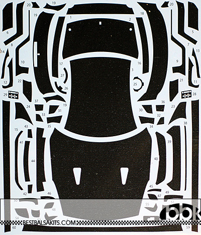 STUDIO 27 1/24 1/24 NISSAN R35 GT-R CARBON DECAL for TAMIYA
