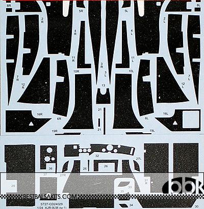 STUDIO 27 1/24 JAGUAR XJR-9 LM 1988 FULL CARBON DECAL