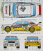 STUDIO 27 1/24 MERCEDES 190E KARCHER #11 #12 DTM (1992) DECAL