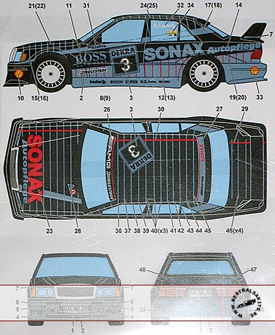 STUDIO 27 1/24 MERCEDES 190E BOSS/SONAX #3 DTM (1992)
