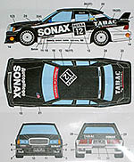 STUDIO 27 1/24 MERCEDES 190E AMG-TABAC/SONAX #12 DTM (1993)